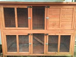 Double Rabbit Hutches Second Hand Rabbit Hutches Second Hand Pet Accessories Buy And