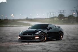 nissan gtr matte black gold rims attack 5 nissan gt r miami power wheels mht wheels inc