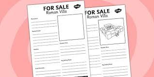 villa for sale worksheet romans rome worksheet sale