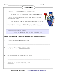 super teacher worksheets pronouns free worksheets library