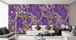 Wohnzimmer Deko Violett Designtapeten In Lila Violett Flieder