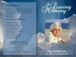 funeral memorial programs best photos of funeral templates for microsoft word free funeral