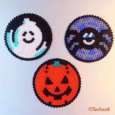 halloween ornaments perler beads by techno6 perler bead patterns