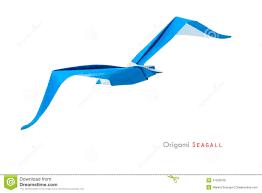 origami gabbiano gabbiano di origami fotografia stock immagine di uccello 41539756