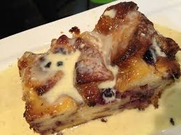 blueberry bread pudding w amaretto cream sauce matter of taste