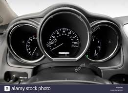 lexus rx 2008 2008 lexus rx 350 in red speedometer tachometer stock photo