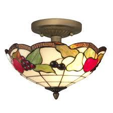 Home Depot Flush Mount Ceiling Lights Springdale Lighting Fruit 2 Light Antique Brass Ceiling Semi Flush