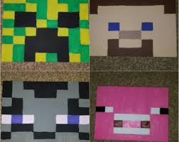 minecraft wall decor etsy