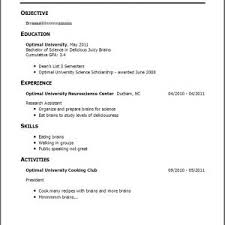 Sample Resume No Work Experience College Student by Sample Resume For High Student With No Work Experience