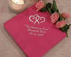 cheap wedding napkins personalized napkins etsy