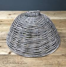 grey wicker food cover with handle u2013 camperdown lane