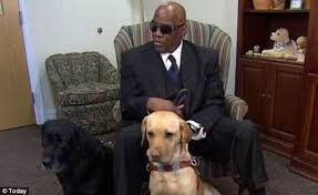 Blind Dog And His Guide Dog Blind Man Who Fell On Subway Tracks And Saved By His Dog Gets A