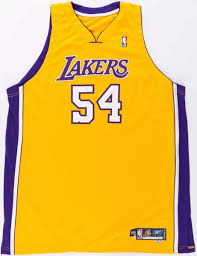 2005 06 kwame brown game worn los angeles lakers jersey lot