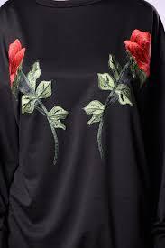 send roses don t send roses tunic dress black