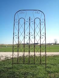 surprising wrought iron garden trellis delightful ideas wire