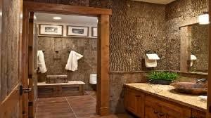 rustic bathroom decorating ideas brilliant bathroom retro rustic with small square wall mirror and