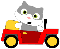 car toy clipart clipart a cat driving a car