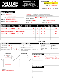 Order Sheet Template Foms Resources
