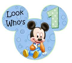 Mickey Mouse 1st Birthday Card Disney Graphics Baby Mickey Party 1st Birthday Pinterest