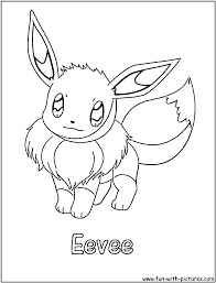 pokemon coloring pages eevee evolutions cartoons printable