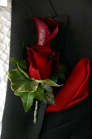 Red Rose Boutonniere Flower Design Buttonhole U0026 Corsage Blog Groom U0027s Special Black