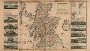 Map Scotland A Map Of Scotland From 1726