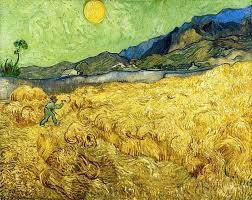 wheatfield with a reaper 1889 by vincent van gogh