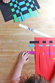 art for kids paper weaving motor skills activities motor skills
