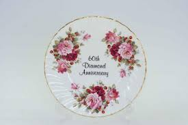 60th anniversary plate anniversary kh pottery affordable elegance