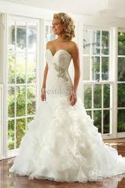wedding dresses fluffy beaded mermaid wedding dresses 2013 organza fluffy