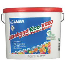 mapei ultrabond eco vs90 ht vinyl rubber flooring adhesive light