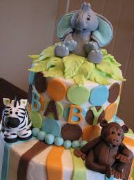 decadent designs jungle animal baby shower cake