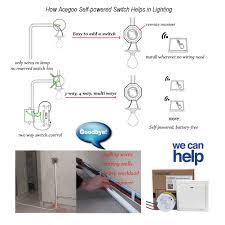 acegoo wireless wall switch self powered kinetic switch no wiring