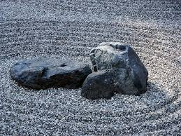relaxing buddhist temple japanese rock garden in 768px manshu to