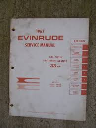 1967 evinrude outboard motor 33 hp ski twin electric service