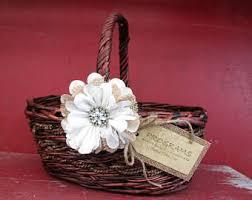 basket for wedding programs program basket rustic burlap and lace basket program box