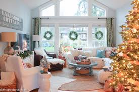 house of turquoise living room a lake cottage christmas our christmas living dining room the