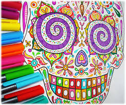 sugar skull coloring pages is