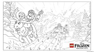 frozen nl avalanche lego disney coloring pages printable