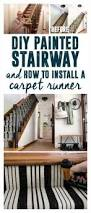 Stairway Rug Runners Our Black Painted Staircase Painted Staircases Stair Rugs And