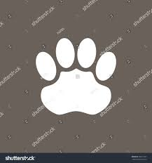 jaguar icon jaguar foot print icon on dark stock vector 392017567 shutterstock