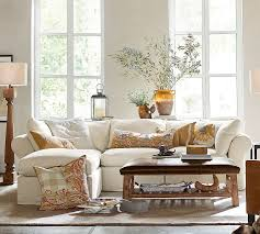 Pottery Barn Slipcovered Sofa by Pb Air Slipcovered 4 Piece Sofa With Chaise Sectional Pottery Barn
