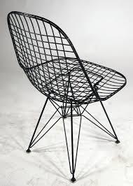 eames wire chair eiffel tower base black in red hook brooklyn