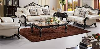 Leather And Wood Sofa Luxury Carved Sofa Set Leather Sofas And Home Furniture
