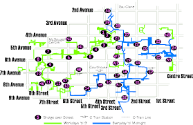 Map Of Canada Showing Calgary by Calgary Downtown Map Need Help To Find Your Way