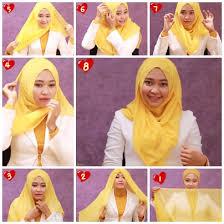 tutorial memakai jilbab paris yang simple tutorial cara menggunakan jilbab paris sehari hari