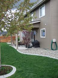 Front Of House Landscaping Ideas by Rocks Against Your House Instead Of Mulch Keeps Moisture And