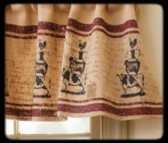 Americana Kitchen Curtains by Farm Life Valance Curtain Stacking Animals Country Kitchen