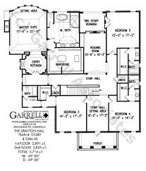colonial style floor plans drayton house plan house plans by garrell associates inc