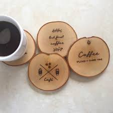 wooden coasters solid wood drink or coffee by mariakonstantin